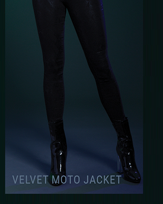Velvet Motto Jacket