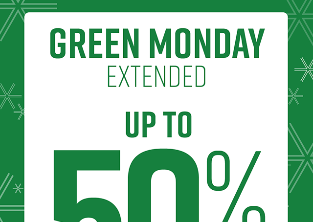 Green Monday Up to 50% Off