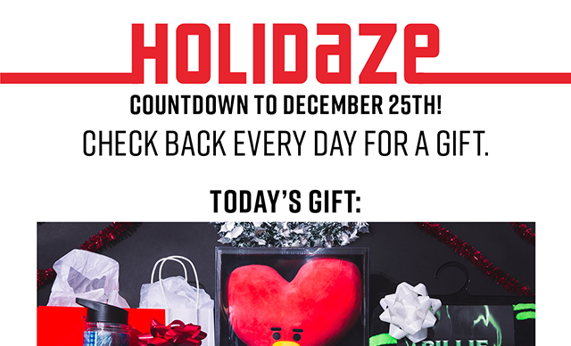 Holidaze Countdown to December 25th! Check back every day for a gift