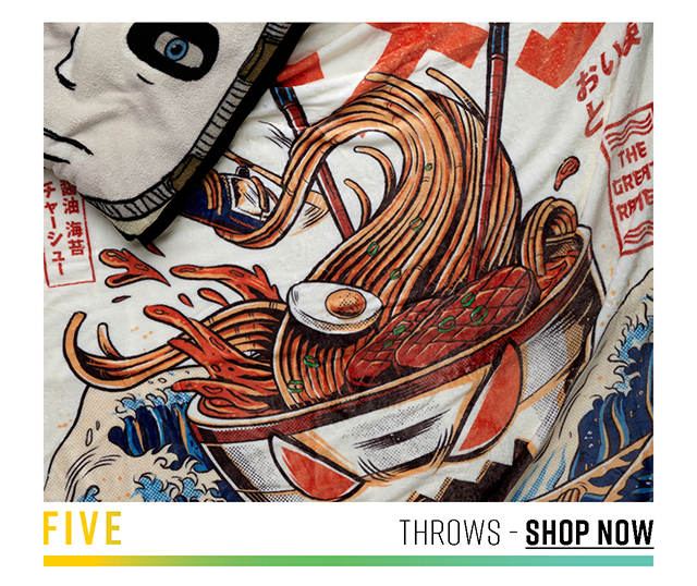 Five: Throws. Shop Now