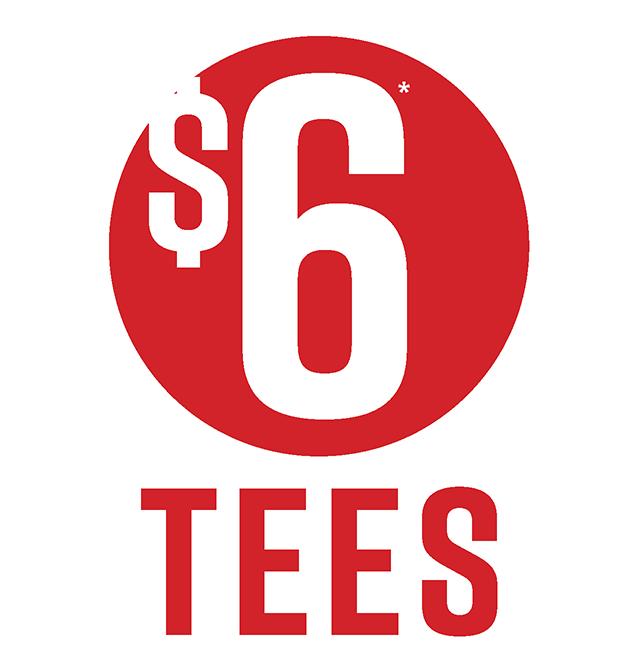 $6 Tees