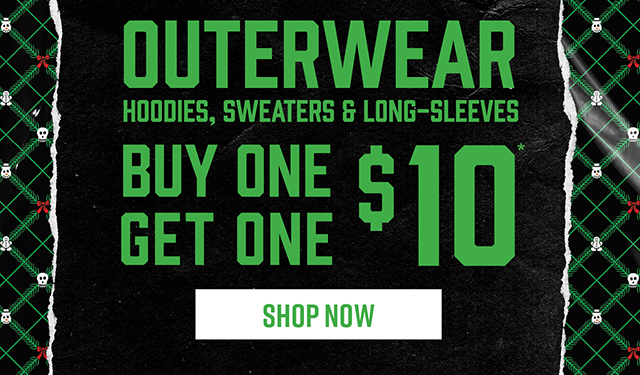 Outerwear Hoodies, Sweaters and Long-Sleeves Buy One, Get One $10. Shop Now