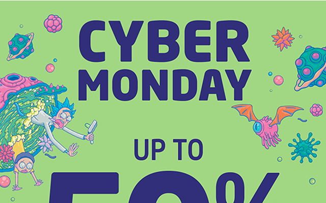 Cyber Monday Starts Up to 50% Off